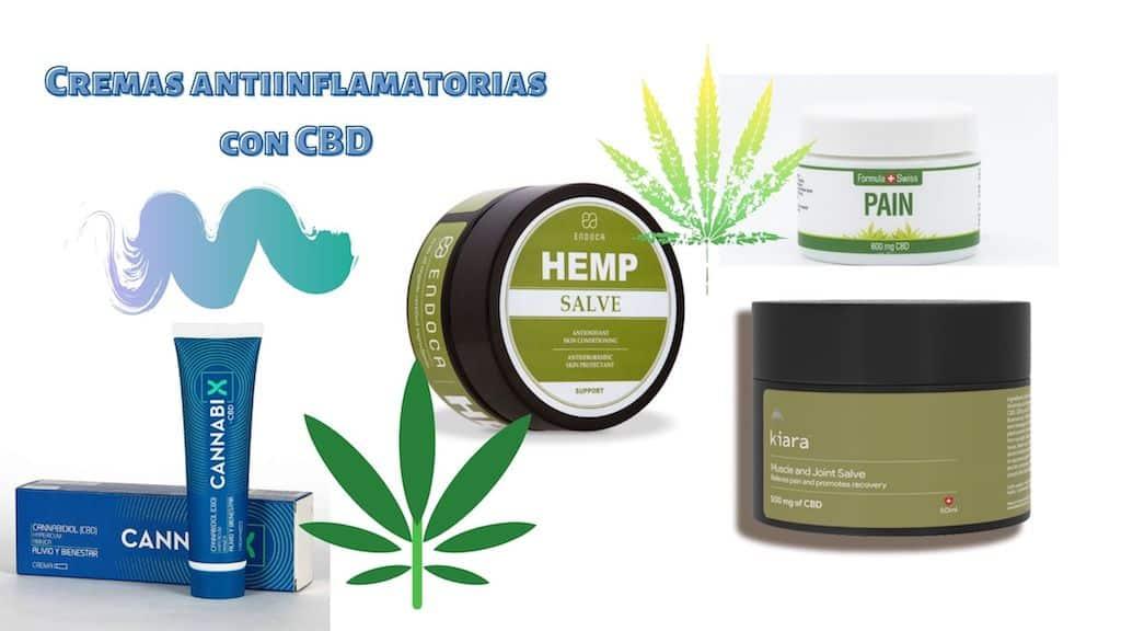 Cremas antiinflamatorias con CBD